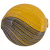 Mustard, Luna Blue Blown Focal Opaque 40mm, Venetian Glass Bead