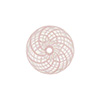 Pink & White Spiral Cipollina Blown Murano Glass Bead 15mm