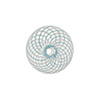 Aqua & White Spiral Cipollina Blown Murano Glass Bead 15mm