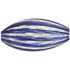Blue White  Blown Oval 20mm Lines