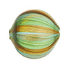 Green & Topaz w/Aventurina Blown Murano Glass Bead, Round, 25mm