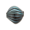 Sea Green & Black Murano Glass Blown Diamond Bead, 20mm