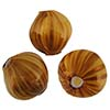 Topaz & Aventurina Blown Murano Glass Diamond Bead, 20mm
