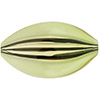 Murano Peridot, Black Windows Blown Flat Oval 45mm