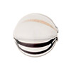 Ivory Gray , Black Windows Blown Round 20mm, Murano Glass Bead