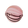 Rubino, Black Windows Blown Round 20mm, Murano Glass Bead