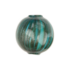 Sea Green Blown Round Double Layer Murano Glass Bead, 20mm
