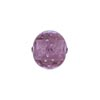 Venetian Bead Bollicine Round 12mm Lt Amethyst over Silver Foil