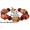 Red Gold Foil Tigrato Bracelet Kit