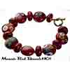Mosaic Red Disc Bracelet Kit
