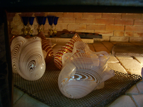 Blown Glass in Oven