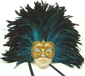 Feathered Venetian Masks