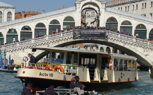 Catch the Vaporetto in Venice