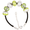Color Me Green PerlaVita Bracelet 7 Inches with Extender