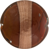Murano Glass Bead, Maroon Caramella Disc with Aventurina Sash 30mm