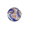 Venetian Bead Caramella Disc 16mm Cobalt Swirls and Aventurina