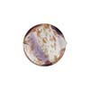 Venetian Bead Caramella Disc 16mm Plum Swirls and Aventurina