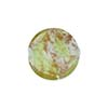Venetian Bead Caramella Disc 16mm Peridot Swirls and Aventurina