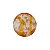 Venetian Bead Caramella Disc 16mm Topaz Swirls and Aventurina