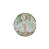 Venetian Bead Caramella Disc 16mm Green Swirls and Aventurina