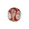 Venetian Bead Caramella Disc 16mm Ruby Swirls and Aventurina