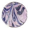 Venetian Bead Caramella Disc 28mm Viola and White Gold