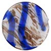 Venetian Bead Caramella Disc 32mm Cobalt Swirls and Aventurina