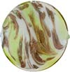 Venetian Bead Caramella Disc 32mm Peridot Swirls and Aventurina