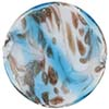 Venetian Bead Caramella Disc 32mm Aqua Swirls and Aventurina