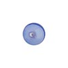 Blue Round White Heart 10mm Caramella, Venetian Glass Bead