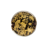 Black Ca'd'oro Lentil 18mm Puffy Murano Glass Beads