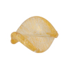 Clear Ca'd'Oro Twist 24mm Gold Foil Venetian Bead