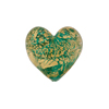 Verde Marino Ca'D'Oro Murano Glass Heart 17mm