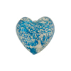 Aqua Whitegold Ca'd'oro Heart Venetian Glass 17mm