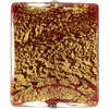 Red Gold Foil Ca'd'oro Rectangle Focal Bead 36mm Venetian Bead