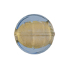 Light Blue Gold Foil Murano Glass Coin 19mm