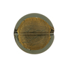 Olivine Coin Straight Sides Gold Foil  Murano Glass 20mm