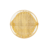 Clear Coin Straight Sides Gold Foil  Murano Glass 20mm
