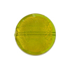 Peridot Coin Straight Sides Gold Foil  Murano Glass Bead 20mm