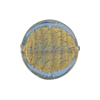 Light Blue Coin Straight Sides Gold Foil  Murano Glass 20mm
