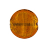 Topaz Coin Straight Sides Gold Foil  Murano Glass 20mm