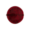Ruby Red Coin Straight Sides Gold Foil  Murano Glass 20mm
