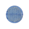 Blue White Gold Coin Straight Sides 20mm