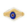 Multi Millefiori 24kt Gold Foil Diamond 25mm Venetian Bead