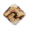Venetian Bead Double Diamond 20mm, Rubino Black