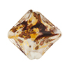 Venetian Bead Double Diamond 20mm,Topaz Black