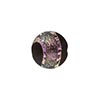 Murano Glass Bead Dichroic Disc 14mm Black Pink Silver