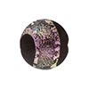 Murano Glass Bead Dichroic 18mm Gold and Black Silver Pink