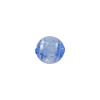 Blue Silver Sparkler Dichroic Murano Glass Bead, Round, 10mm