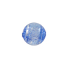 Blue Silver Sparkler Dichroic Murano Glass Bead, Round, 12mm